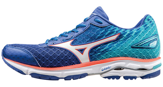 Mizuno Wave Rider 19 Running Shoes Women dazzling blue/white/capri